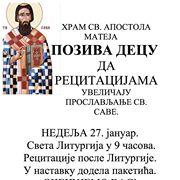 sveti sava u hramu svetog apostola mateja