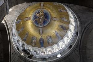 mozaik na kupoli hrama svetog save