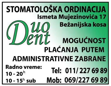 reklame-bezanija-bezanijskakosa-zubar-stomatolog-popravkazuba-zubnarate-protezanarate-administrativnazabrana-duodent-zubarkosa-Duo-dent