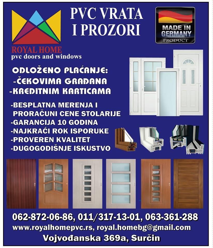 royal home pvc surcin-pvcstolarija-pvcsurcin-pvcprozori-pvcvrata-komarnici-roletne-pvcpovoljno-stolarijapovoljno-reklame-surcin