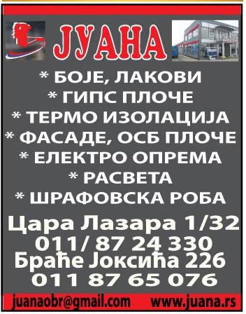 juana-obrenovac-rasveta-elektrooprema-fasade-boje-lakovi-autoboje-izolacija-gradjevina-materijal-farbara-mojabaza