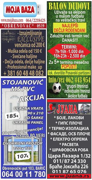 Obrenovac - maj