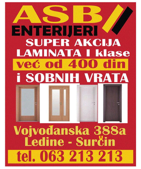 asbenterijeri-laminat-sobnavrata-surcin-ledine-mart-2019-reklame-oglasavanje-marketing-mojabaza