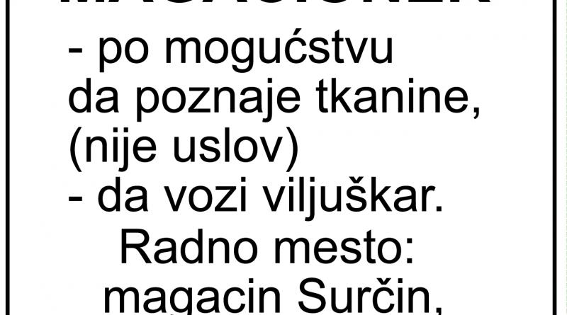 Potreban-magacioner-surcin-posao-zaposlenje-oglas-mojabaza-magacin-viljuskar-trazim-posao