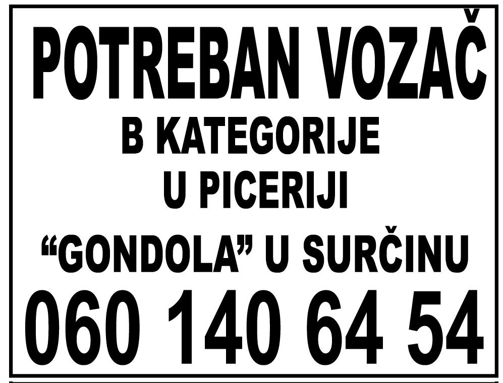 picerija-gondola-surcin-VOZAC-TRAZI-POSO-vozac-raznosac-razvoz-zaposlenje-konkursi-radna-mesta-posaodobar-nadjiposao-mojabaza