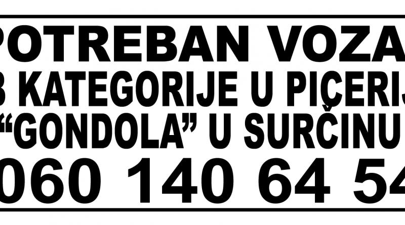 picerija-gondola-surcin-trazim-poso-vozac-b-kategorije-beograd-posao-zaposlenje-dobra-plata-radnik-zaposleni-konkurs-oglas-mojabaza