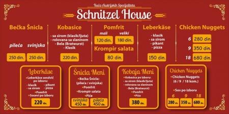 schnitzel haus snicle obrenovac cenovnik brza hrana dostava snicel gladan sam hrana kobaje ukusno baric becka cenovnik pomfrit palacinke