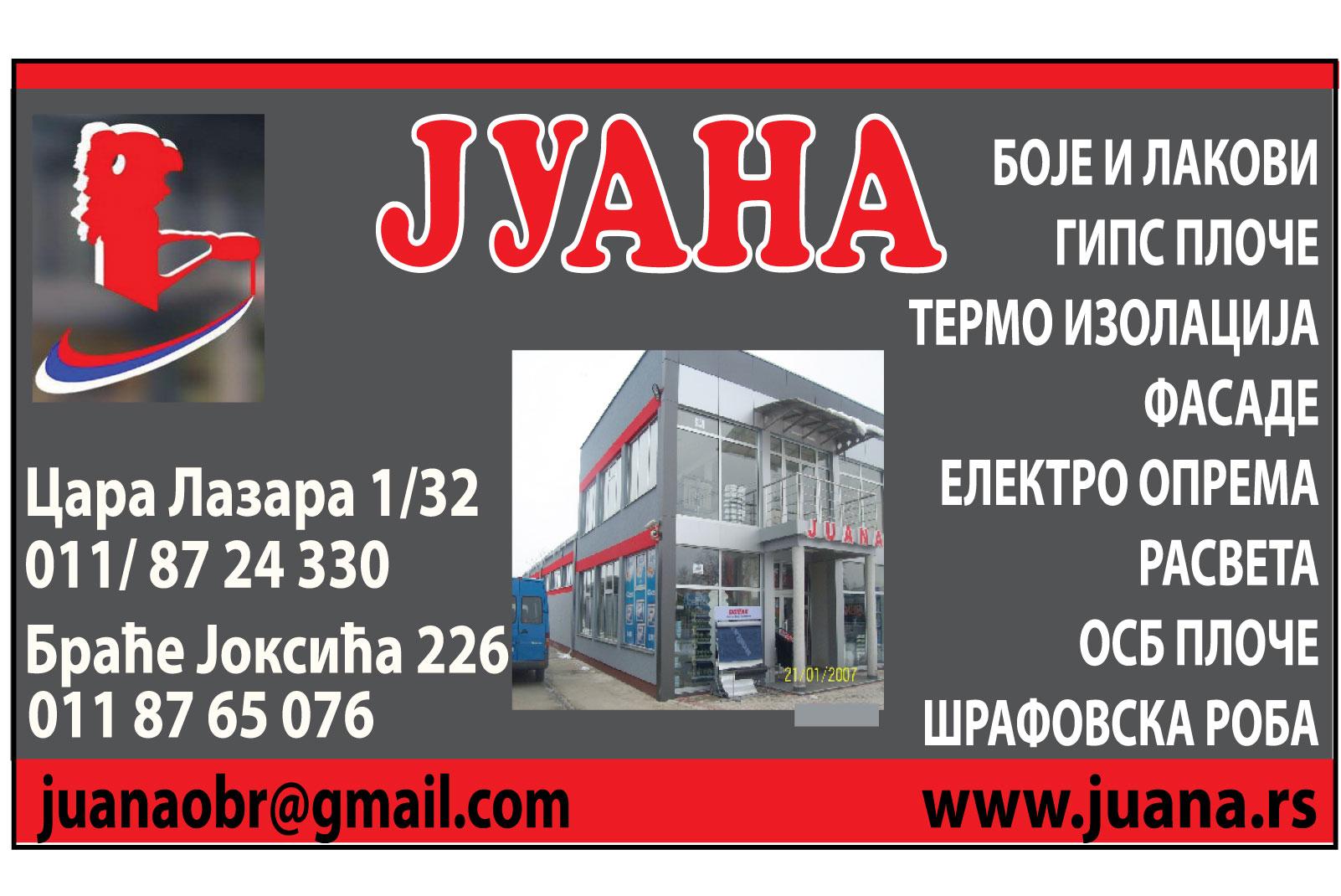 Juana-obrenovac -zvecka-farbara-boje-lakovi-izolacija-stiropor-fasade-krecenje-gradnja-renoviranje-gradjevina-materijali-stovariste-mojabaza