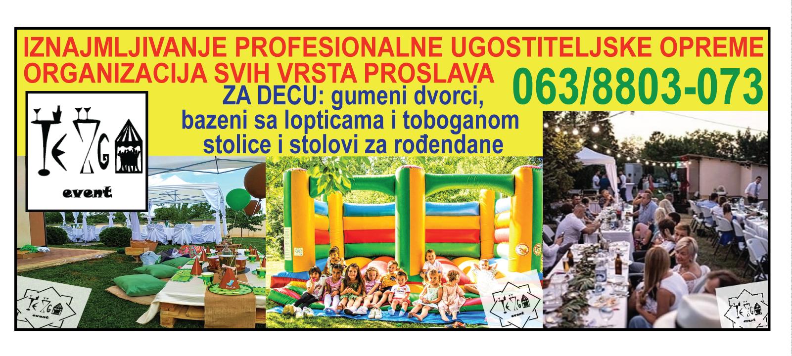 Tezgaevent-jobrenovac-proslave-veselja-satori-stolovi-dvorci-opremavencanja-krstenja-decijirodjendani-iznajmljivanje-mojabaza