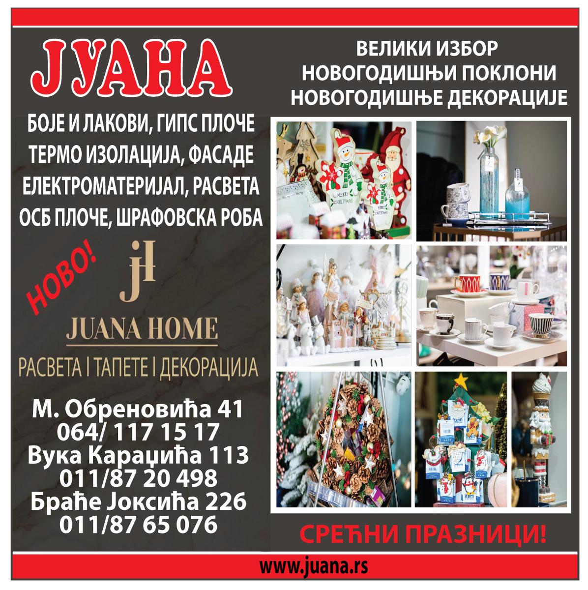 farbara-juanahome-obrenovac-NOVOGODISNJE-DEKORACIJE-UKRASI-rasveta-elektrooprema-fasade-boje-lakovi-autoboje-izolacija-gradjevina-materijal-mojabaza