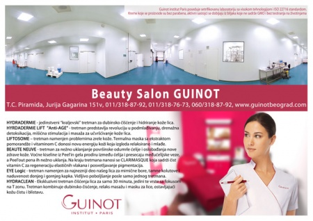 guinot logo beauty spa cosmetics belgrade serbia opustanje zatezanje kozmeticar novi beograd piramida vrhunski kozmeticki nega koze mojabaza 1