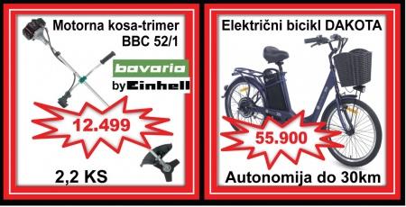 #1 FLEXIMA-elektricni bicikl trimer kosenjetrave kosilica kosacica bicikla za odrasle bajs mojabaza einhell alati gvozdjara vijcanaroba surcin