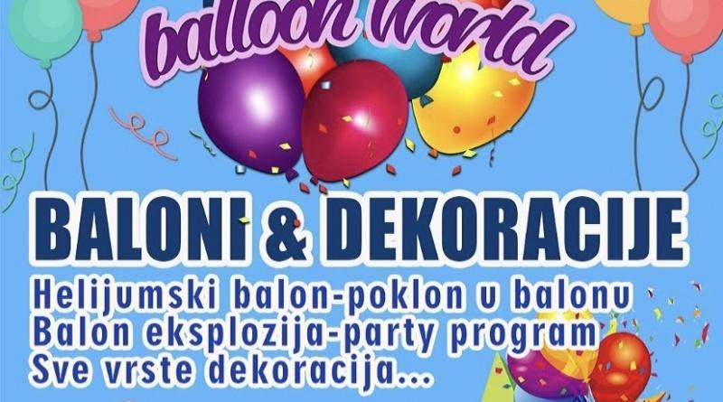 #1baloni dekoracijedl baloon world svet balona surcin ledine helijum dekoracije pokloni party program gift shop mojabaza1