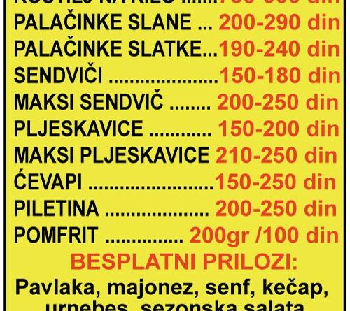 #1fast food dostava hrane rostilj sendvici pljeskavice cevapi palacinke pomfrit MARIACHI-Surcin-mojabaza